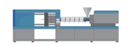 Plastic injection molding illustration